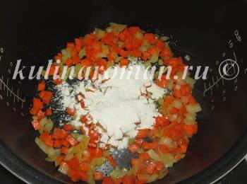 желудки в мультиварке с овощами