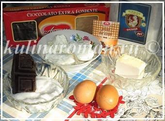 продукты для шоколадного пирога
