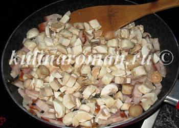 грудинка   с грибами
