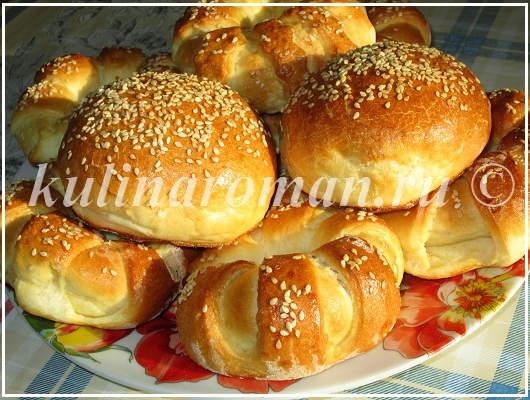 вкусные булочки с кунжутом