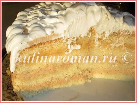 торт в мультиварке бисквитный