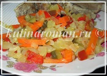 пассерованные овощи для рассольника