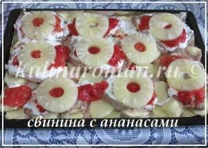 отбивные с ананасами в духовке
