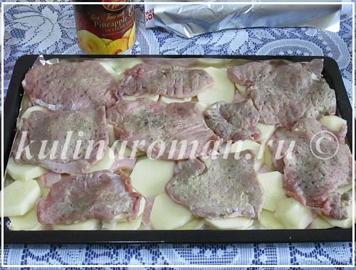 свиные отбивные с картошкой в духовке рецепты с фото