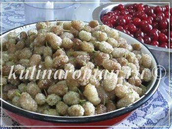 джем из шелковицы и вишни