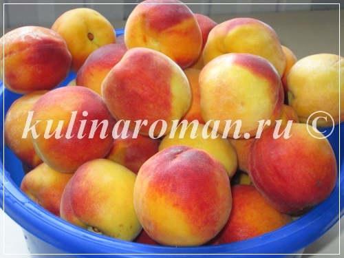персики для компота