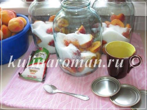 быстрый персиковый компот на зиму