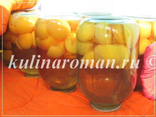 персиковый компот с лимонной кислотой
