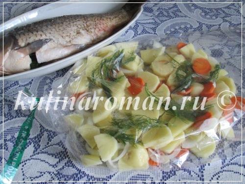 карп в духовке с овощами