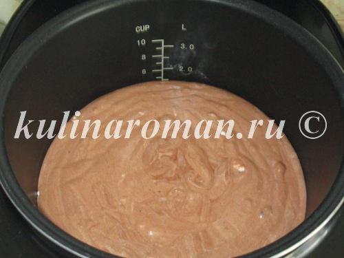 шоколадный кекс в мультиварке рецепт