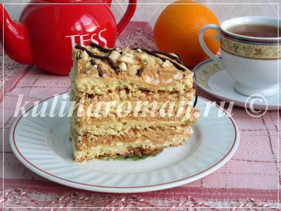 вкусный торт сникерс