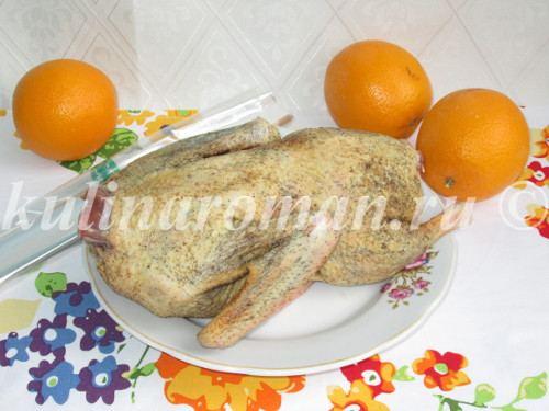 утка в апельсиновом соке в духовке
