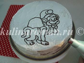 как сделать торт обезьяна