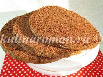бисквит с горьким шоколадом