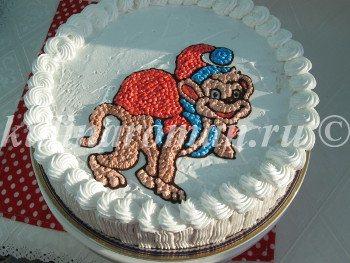 новогодний торт обезьянка
