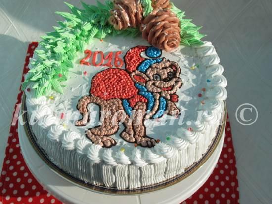 новогодний торт обезьяна