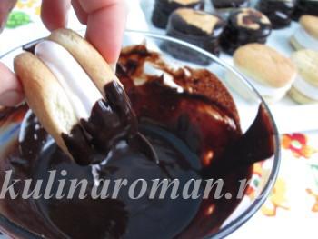 как приготовить печенье в шоколаде