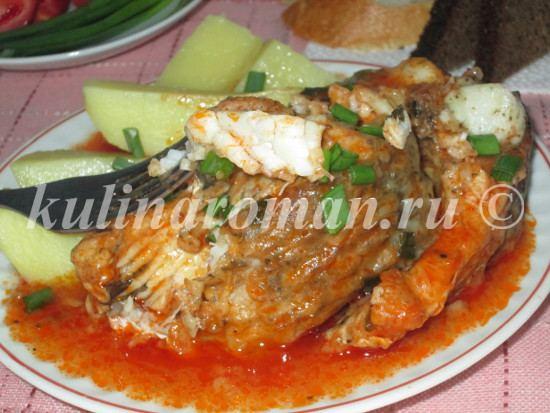тушеная рыба с картошкой на пару