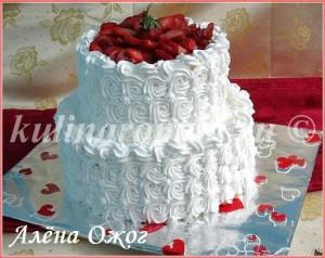 Торт двухъярусный своими руками фото