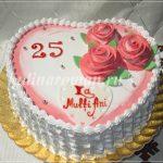 торт на 25 лет сердце
