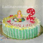 торт для девочки из крема