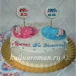 торт для мамы с малышами