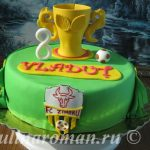 Торт футбольный кубок