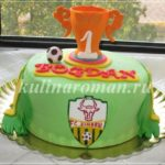 Торт с футбольным кубком