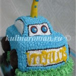 Торт голубая машина