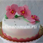Торт с орхидеями из мастики