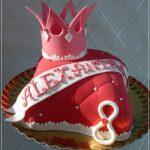 торт из мастики с короной