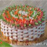 Торт с тюльпанами из крема