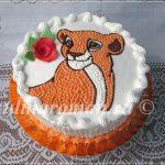 торт львица