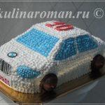 торт машина из крема