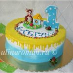 торт на годик мальчику