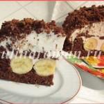 творожный торт с бананами