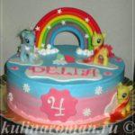 торт пони с радугой
