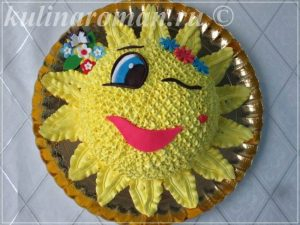 торт солнышко из крема