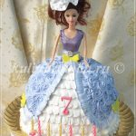 Торт юбка куклы