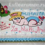 торт малыш в памперсе