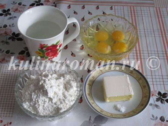 продукты для эклеров