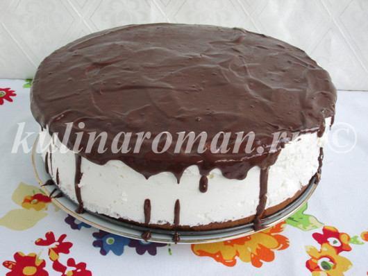 торт птичье молоко с шоколадной глазурью
