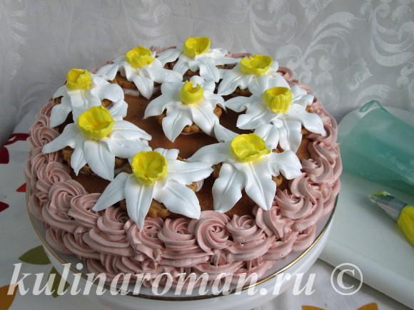 торт на 8 марта своими руками