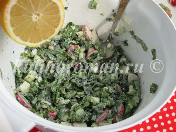 салат с домашним майонезом