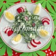 весенний салат с крапивой