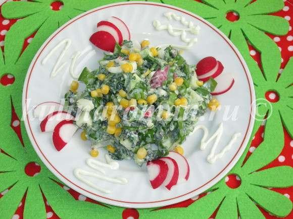 витаминный салат из зелени