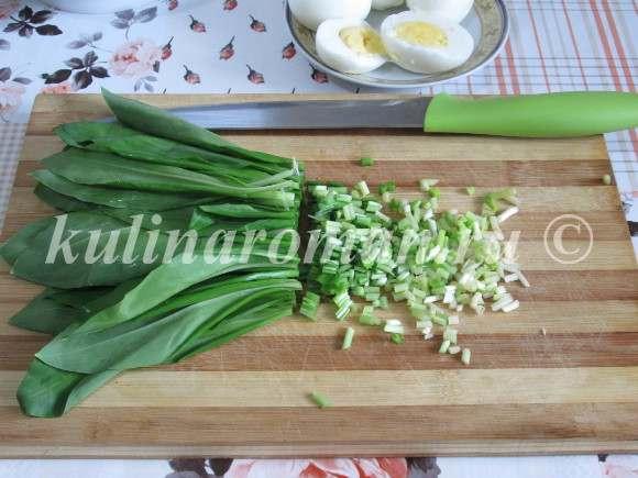салат с черемшой рецепт