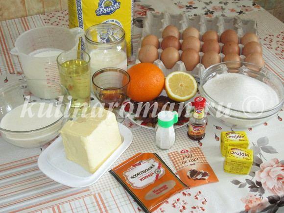 продукты для заварного кулича
