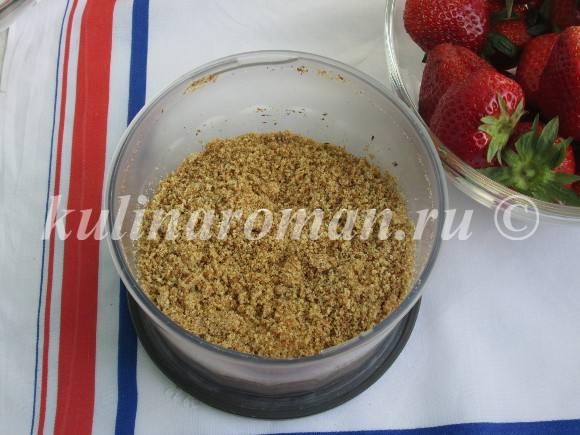 десерт с овсяным печеньем