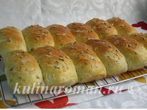 мини багеты с сыром и луком